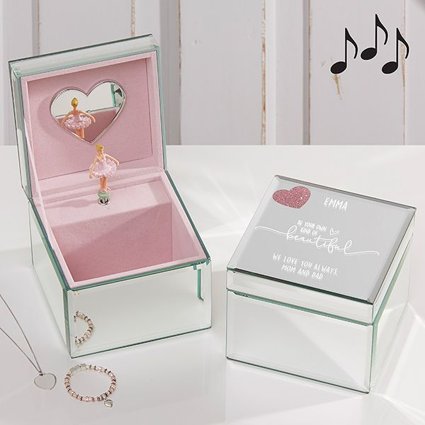Engraved with A Message of Your Choosing Personalised Purple and White Butterfly Trinket Box