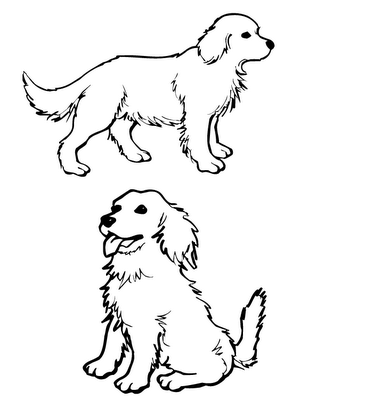 Golden Retriever Cartoon Clip Art Dog Coloring Page Puppy Coloring Pages