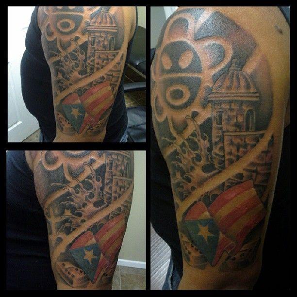 Taino Tattoo For Woman: Taino Sun Symbol, El Coqui, El Morro, And The Puerto Rican