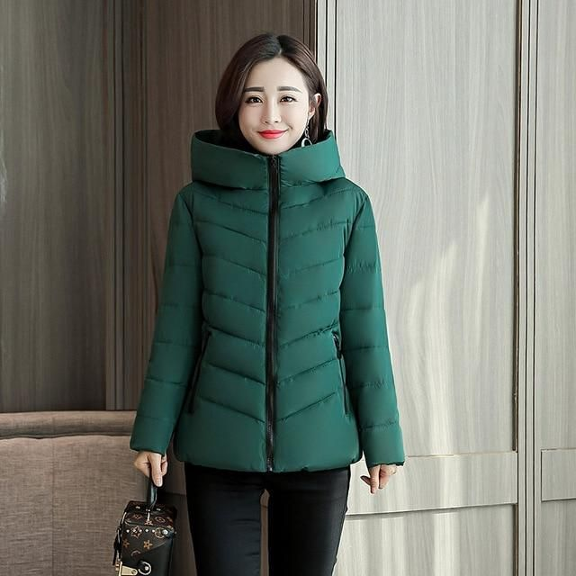 2019 Women's Winter Jacket Long Female With Stand Up Collar