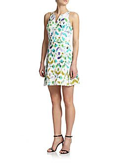 MILLY Printed Racerback Dress. #milly #cloth #dress