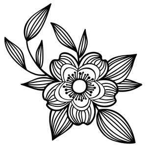 Photo of Silhouette Design Store: Flower And Leaves