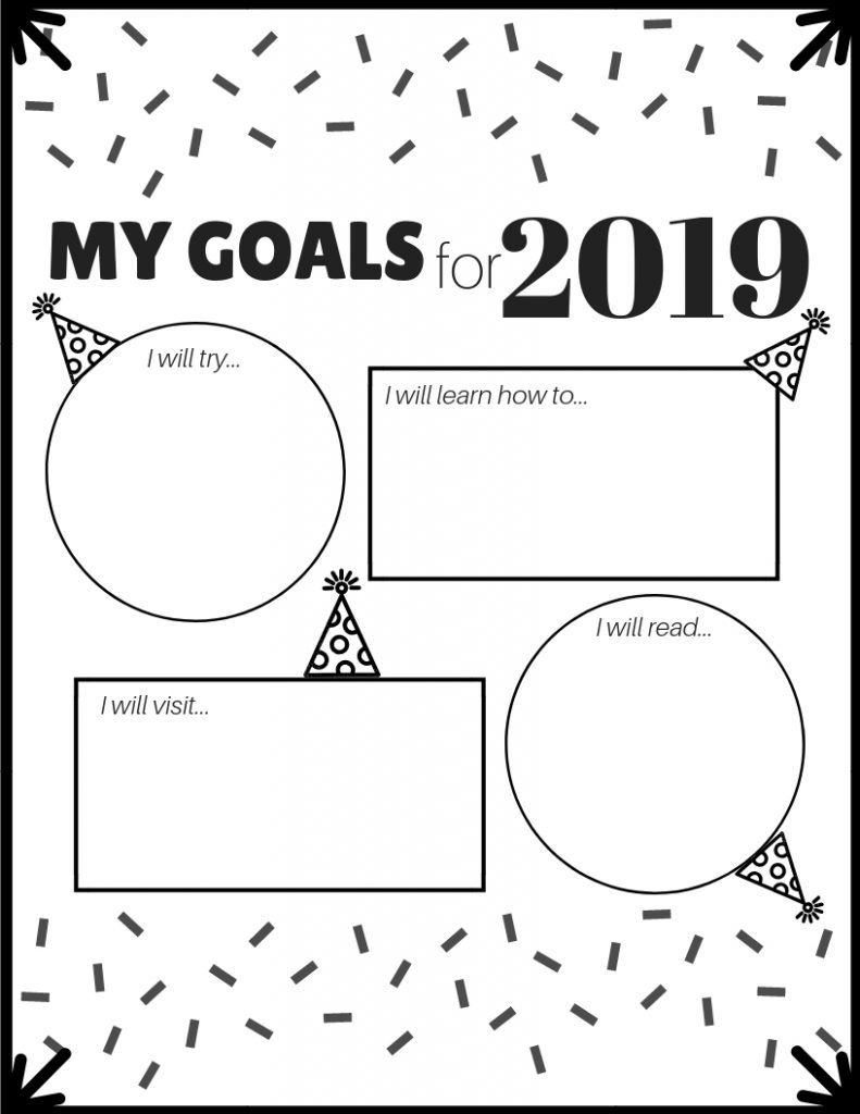 New Year Goal Setting For Kids With Free Printable Simply Bessy New Year Goals Worksheets For Kids New Years Activities [ 1024 x 791 Pixel ]