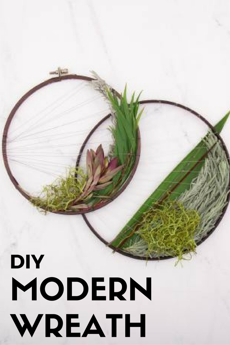 Room Lab: Make a Modern Greenery Loom Wreath >> http://www.hgtv.com/shows/room-lab/diys/how-to-make-a-modern-nature-loom?soc=pinterest