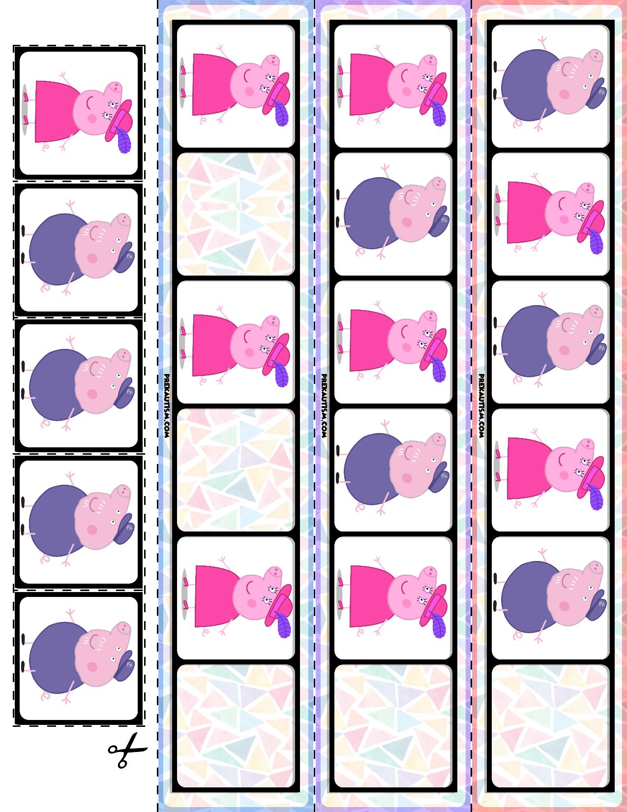 Preschool Peppa Pig Pattern Cards