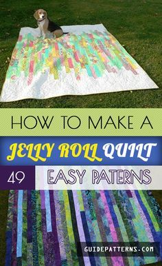 How to Make a Jelly Roll Quilt: 49 Easy Patterns | Guide Patterns-Published by Michelle Anderson...A bit different from patchwork quilt, the uniqueness of jelly roll quilt lies in its fabulous display and quick-sewing technique. Have a look at the following tutorials to create a work of art without going to any specialized quilting classes. #jellyrollquilts