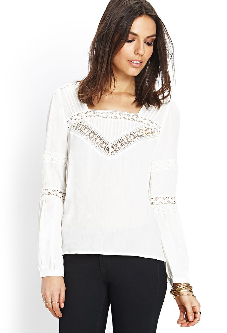 72df4130d64ae7 Bohemian Beauty Lace Top | FOREVER21 Calling all #Boho babes!  #F21Contemporary #Crochet #Lace