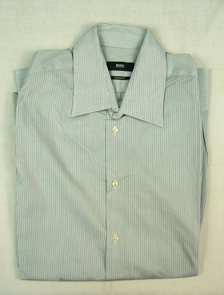 20642d07f HUGO BOSS MENS REGULAR FIT SHIRT Size 40 / 15 3?4 #fashion #clothing ...