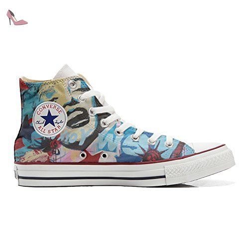 Converse Customized Adulte - chaussures coutume (produit artisanal) Floral Vintage size 35 EU UUYg8i