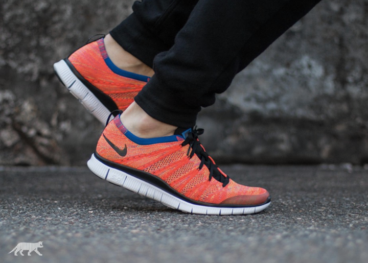 028da79ce1130 Closer look at the Nike Free Flyknit NSW Bright Crimson. Coming 23rd  January. http