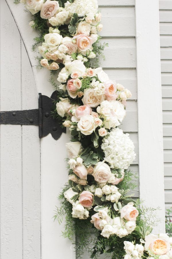 Classic floral garland: http://www.stylemepretty.com/canada-weddings/ontario/minett/2016/06/01/how-to-have-a-traditional-english-garden-wedding-no-matter-where-you-are/ | Photography: Crimson Photos - http://www.crimsonphotos.ca/