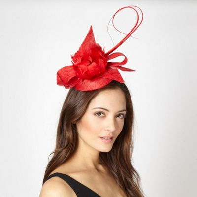 bc6d138c40a J by Jasper Conran Designer red feather flower hair piece- at Debenhams.com
