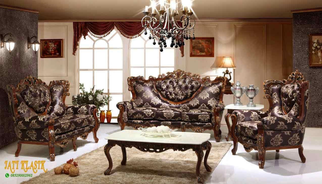 Sofa Ruang Keluarga Mewah Tamu Sudut Terbaru 1 Set