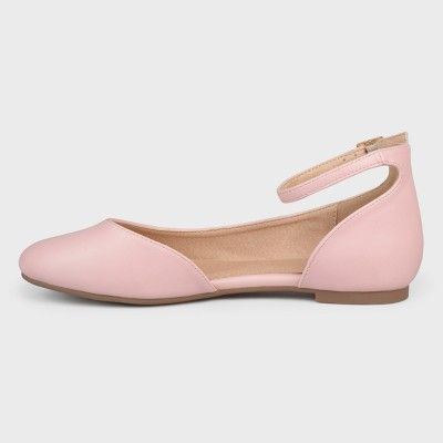 e2bf9db66ea Women s Journee Collection D orsay Astley Ballet Flats - Pink 9W ...