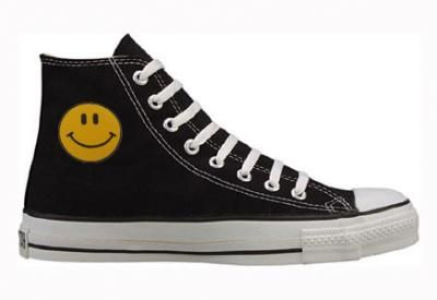 b6035b124b4 Converse Chuck Taylor All Star Hi Top Custom with Smiley Face   American  Athletics