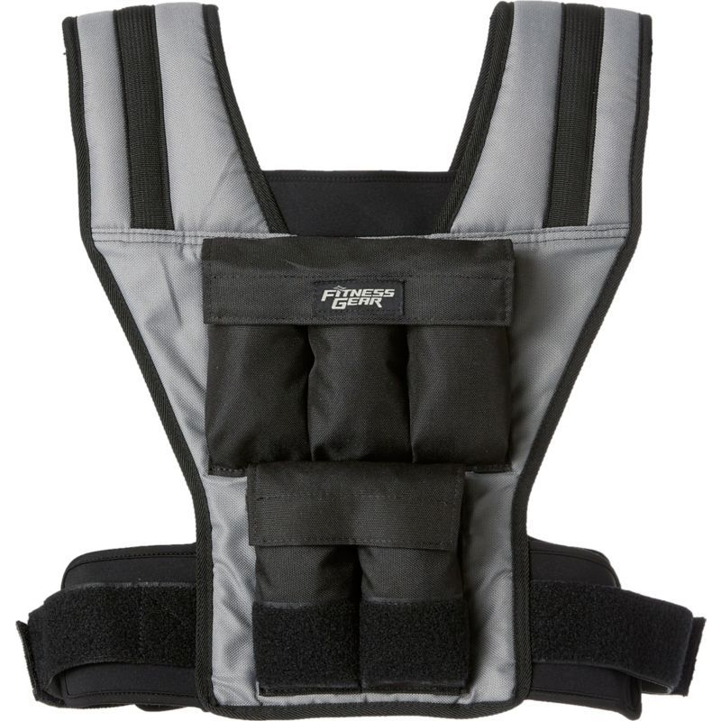 Fitness Gear 2 20 lb Weighted Vest, Gray Weighted vest