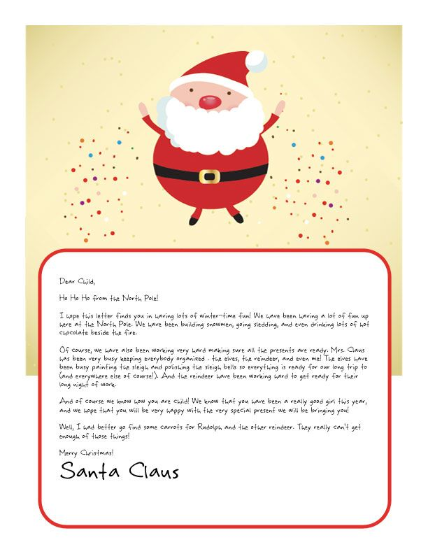 Easy free letter from santa magical package printable letters easy free letter from santa magical package printable letters santa and special letters spiritdancerdesigns Images