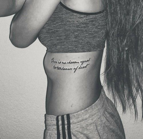 There Is No Charm Equal To Tenderness Of Heart Tattoos Heart