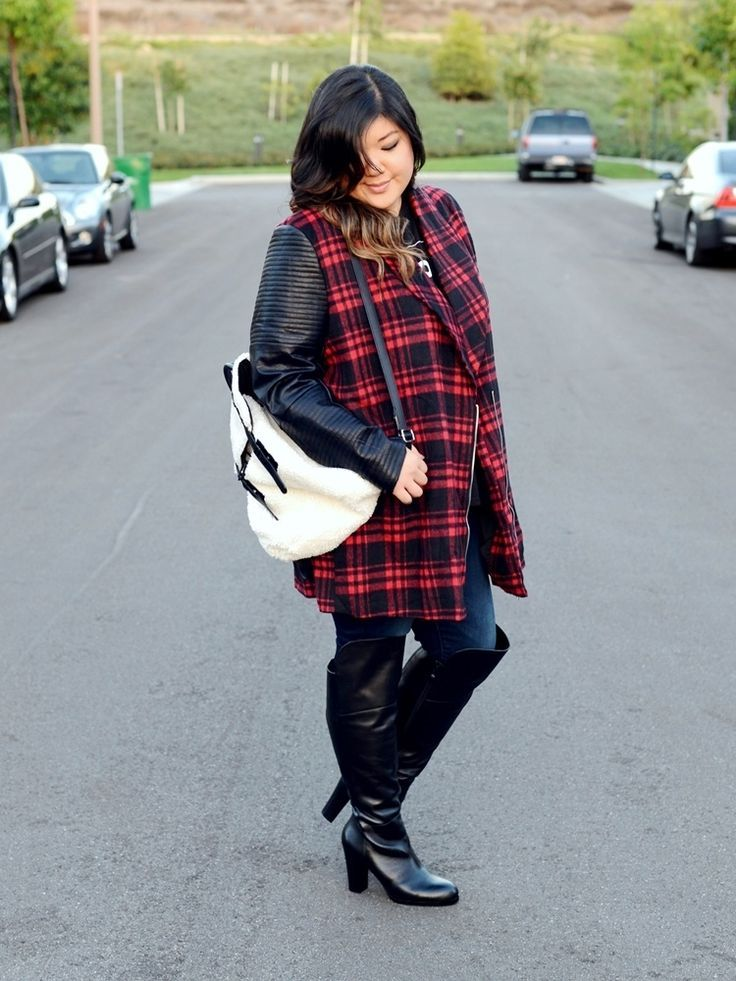 5 feminine ways to wear over the knee boots as a plus size girl