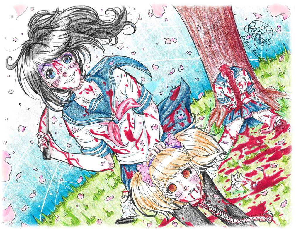Game development blog yandere classmates anime pinterest nice - Me Canse De Que Lo Vieras Tanto Dark Animeyandere