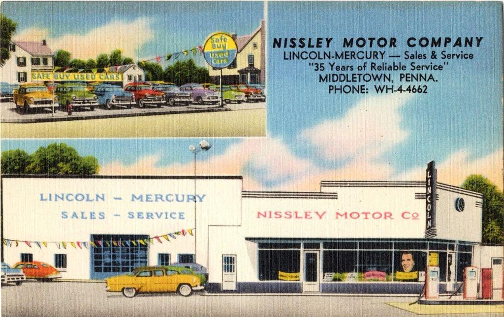 1950's Nissley Motor Company LincolnMercury Dealership