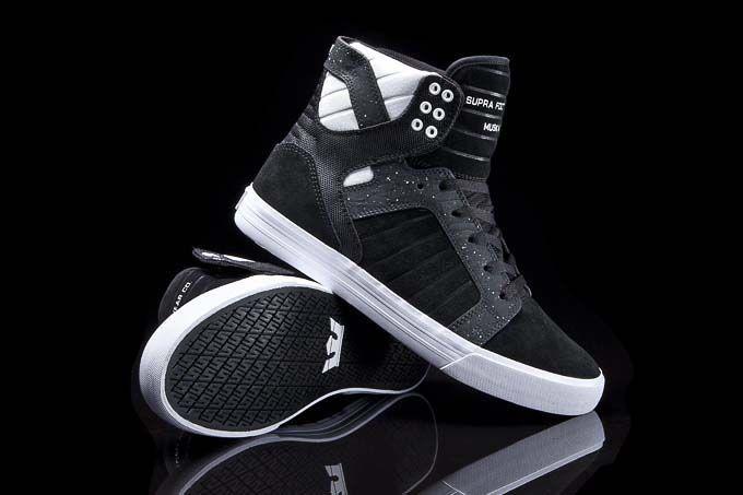 79b3c1b206e52 Black And White Skytop | SUPRA Footwear | Shoes, Swag shoes, Supra shoes