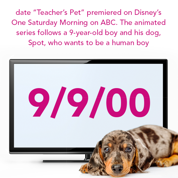 The Saturday Morning Tv Show Teacher S Pet Premiered September 9