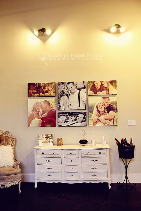 Canvas grouping for bedroom decor - 3 20x20 and 3 10x20 | Wall ...