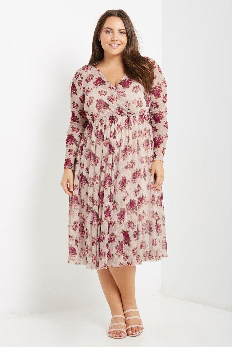 """""""Shabby Vintage Florals"""" Garden Party Dress (Plus Size)"""