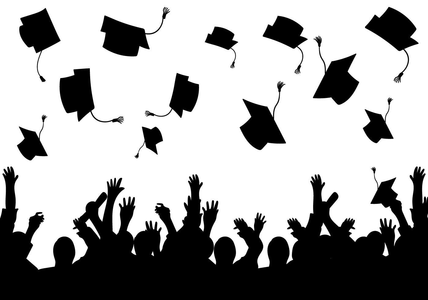 Photo of Graduation background vector silhouette