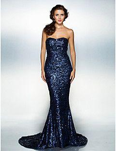 9bf5a700f2f8 Fiesta formal Vestido - Azul Marino Oscuro Corte Sirena Cola Corte ...