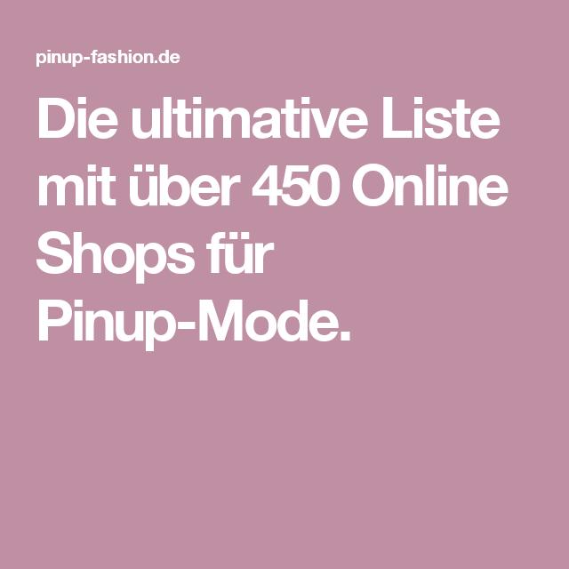 957728da3882d3 Die ultimative Liste mit über 450 Online Shops für Pinup-Mode.