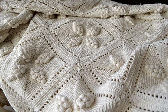 Dessus de lit crochet d'art 1900 | Crochet plaid | Colchas vintage
