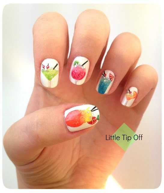 Nail Art Style Cocktail Nails Tipples On Your Fingertips Trendy Nail Art Summer Nail Art Summer Beach Nail Designs