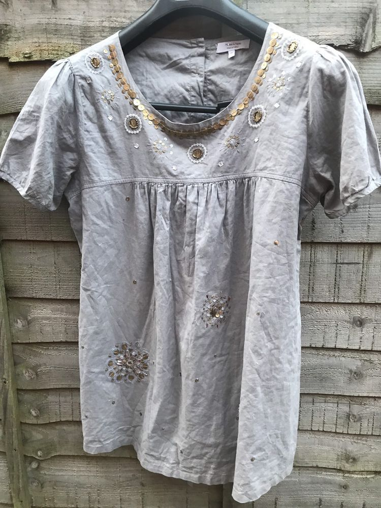 3b2b92edf73f69 MAMAS AND PAPAS MATERNITY LOVELY LADIES SEQUIN TUNIC TOP UK SIZE 14  #fashion #clothing #shoes #accessories #womensclothing #maternity (ebay  link)