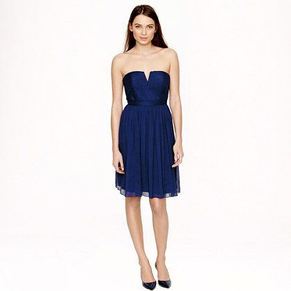 f9d684151b4d Nadia dress in silk chiffon - J.Crew. I love this colour - Dark Cove. I  also really like the neckline. A very pretty dress, now I just need an  occasion.