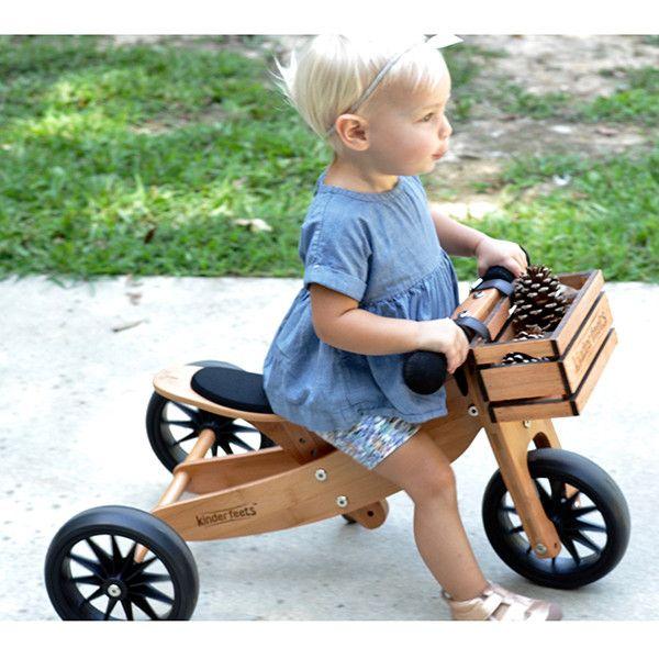 Kinderfeets Tiny Tots Trike Bamboo Lucas Loves Cars Kids Trike Balance Bike Trike