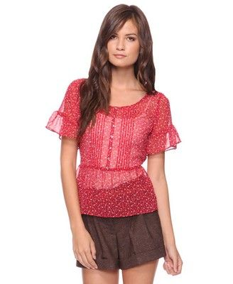 Floral Woven Top  $17.80