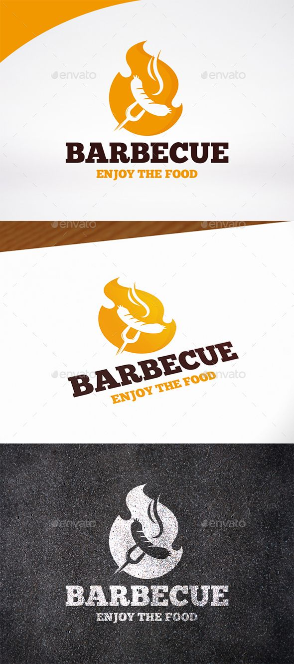 BBQ Party Logo Template | Party logo, Ai illustrator and Logo templates