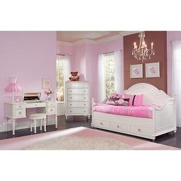American Signature Furniture Bouquet White Ii Kids Furniture