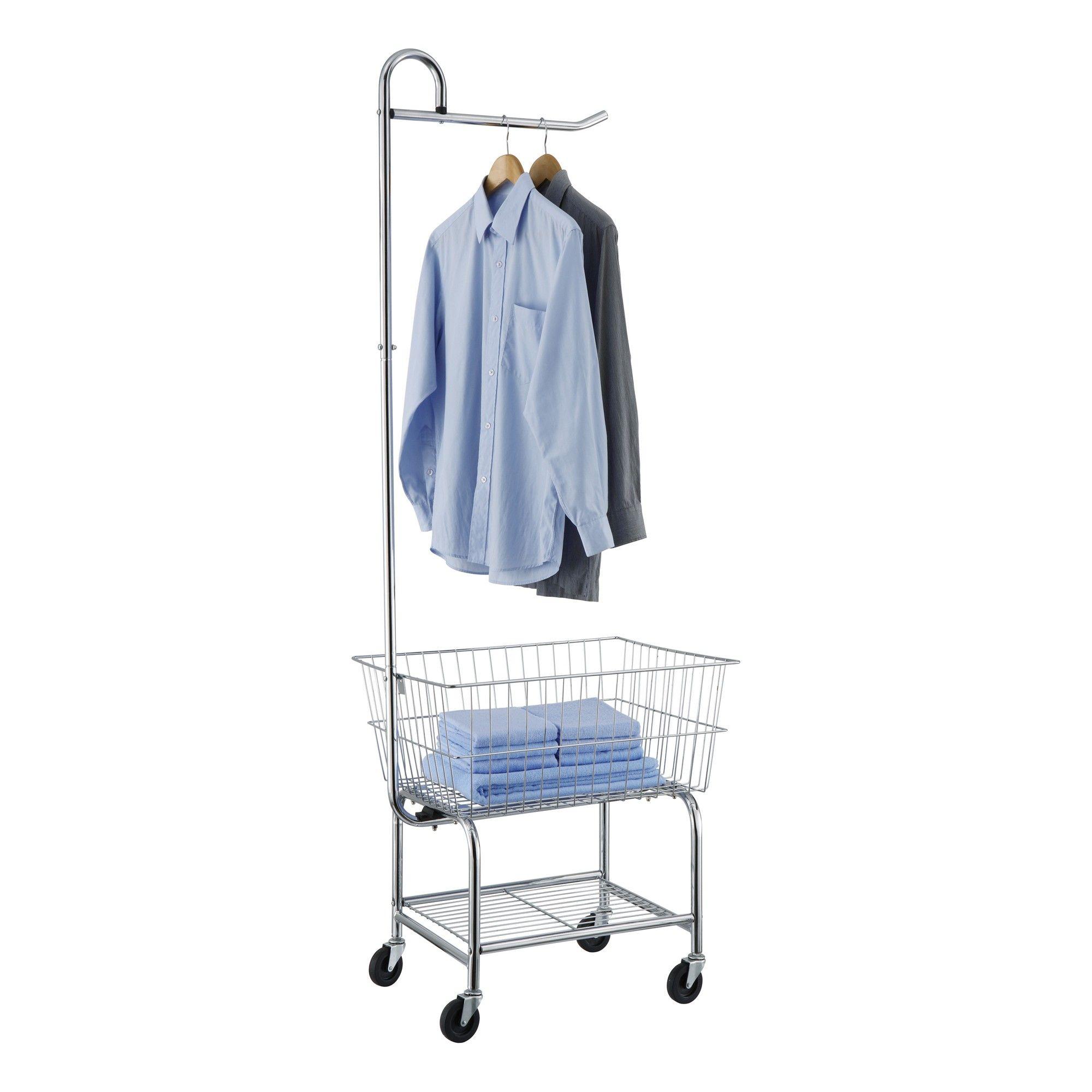 Neu Home Laundry Cart Shiney Silver Laundry Center Laundry Cart