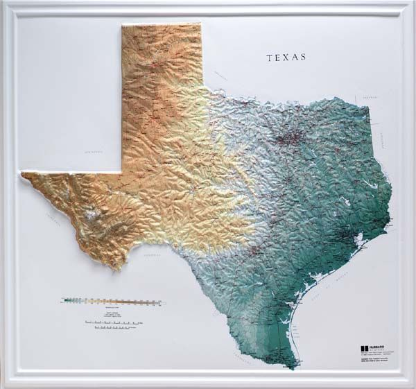 3d Map Of Texas.Raised Relief Maps 3d Topographic Map Us State Series Map It