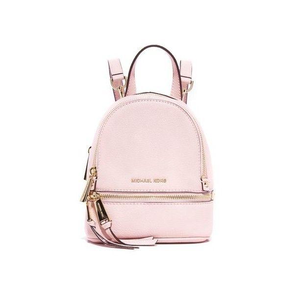 e16413eac694 MICHAEL Michael Kors Rhea Mini Backpack ($230) ❤ liked on Polyvore  featuring bags, backpacks, backpack, blossom, miniature backpack, leather  knapsack, ...