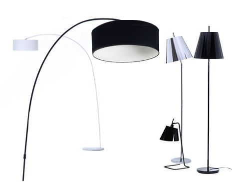 A stylish and contemporary lighting collection in monochrome perfect for the home or office adding a unique touch