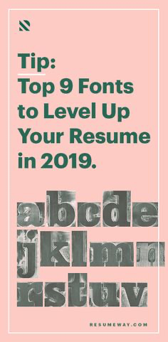 Top 9 Resume Fonts To Level Up Your Resume In 2020 Resumeway In 2020 Resume Fonts Resume Advice Resume Writing Tips