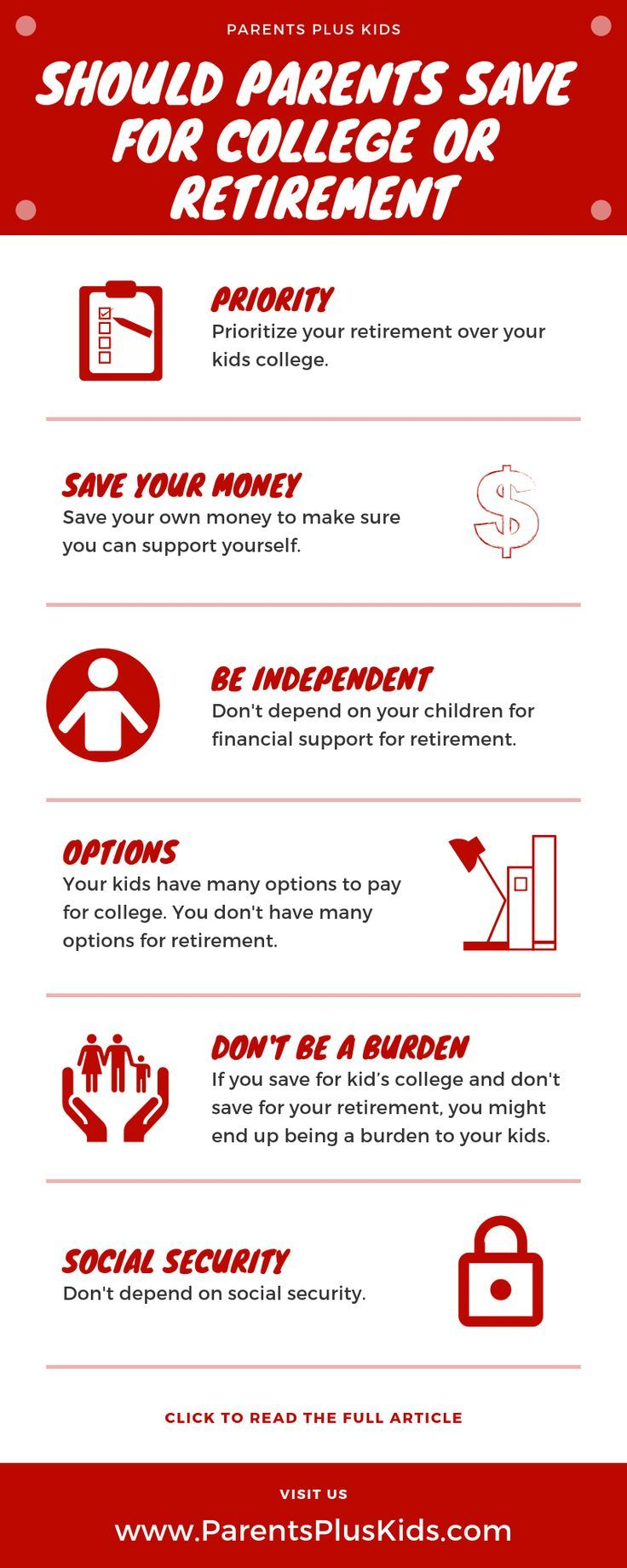 Should Parents Save For College or Retirement   Saving for college. Retirement. Saving for retirement