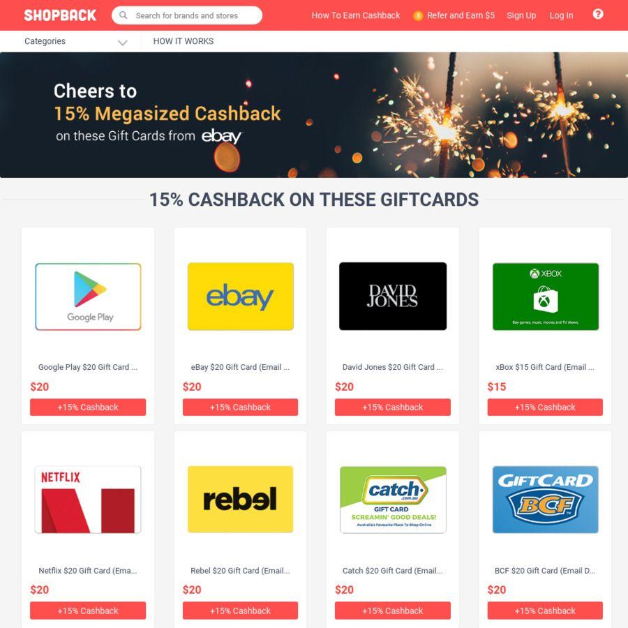 15 Cashback On Up To 25 Ebay Netflix Google Play Store More