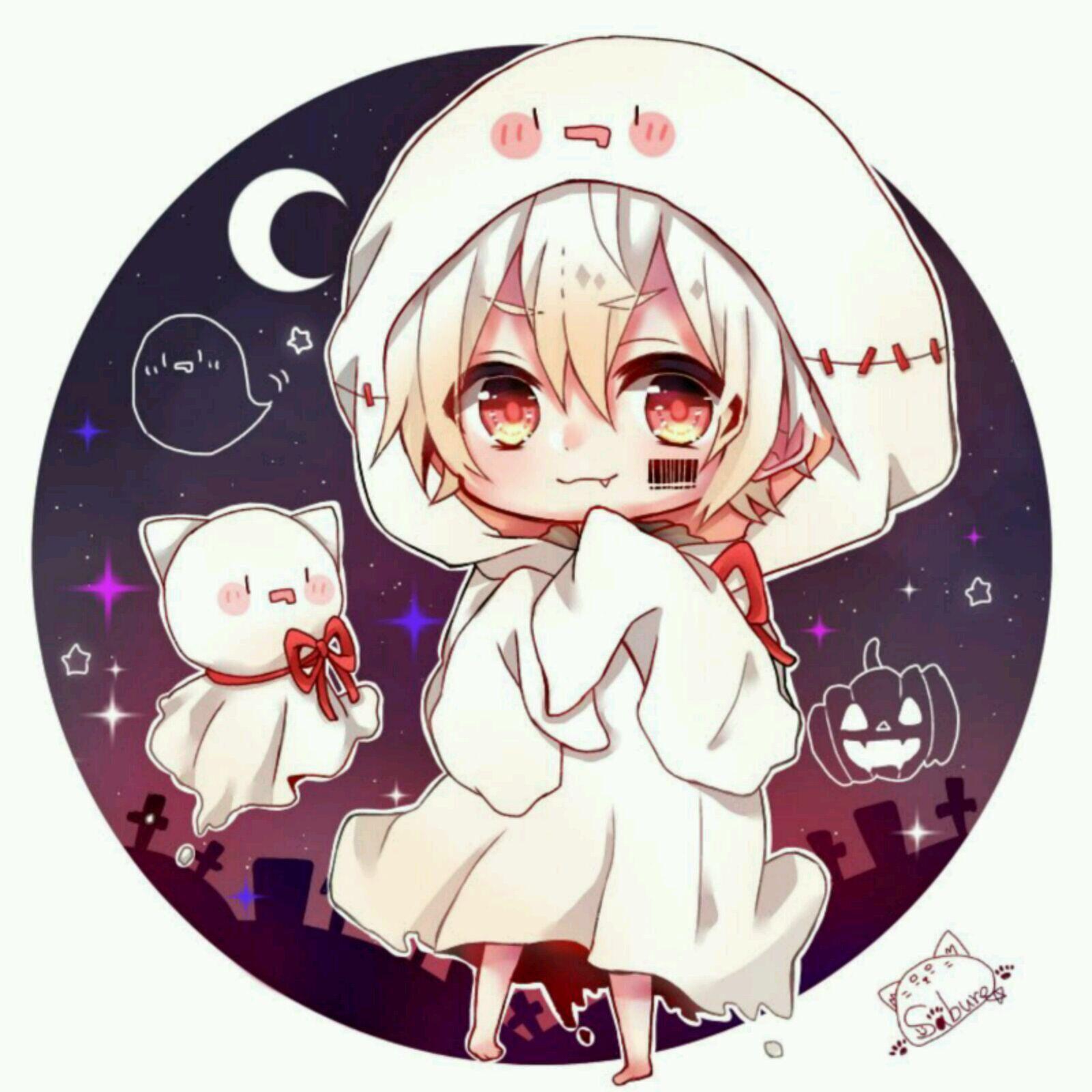Halloween ghost ハロウィン イラスト 男の子, 天月 イラスト, アニメチビ