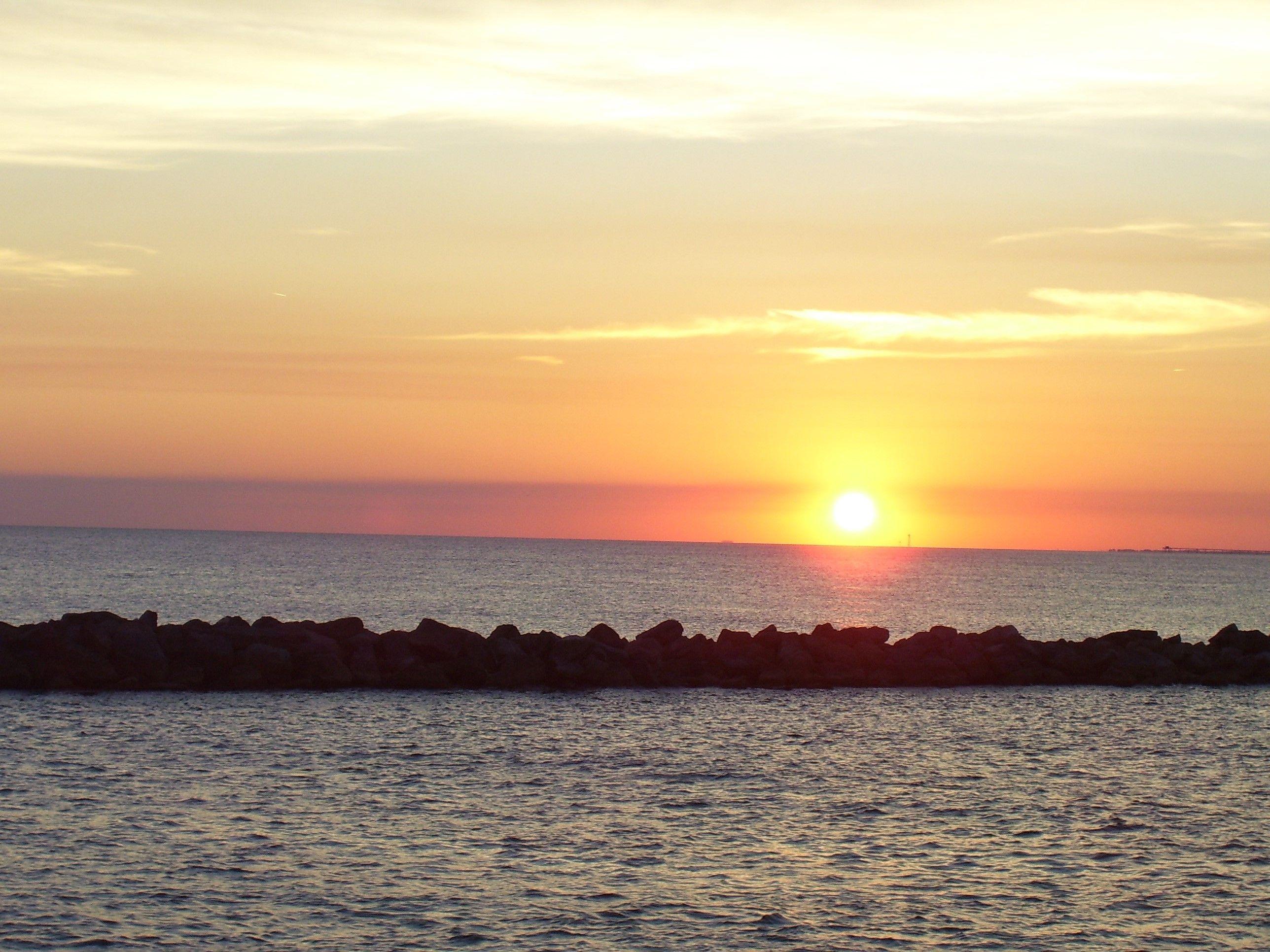 Atlantic Barrier Sunset