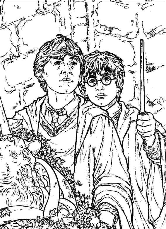 Printable Harry Potter And Ron Coloring Pages - Harry Potter ...